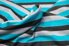 Black & Blue Glitter Stripes
