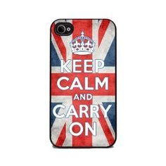 Keep Calm and Carry On - Union Jack Flag iPhone 4 or 4s Cover, Cell Phone Case