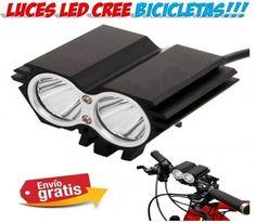 Accesorios para bicicletas. Luces delnteras LED CREE para practicar deportes de ciclismo. Perfectas para pasear por terrenos accidentados y montaña. Toda la iluminacion para tu bici en Yougamebay.