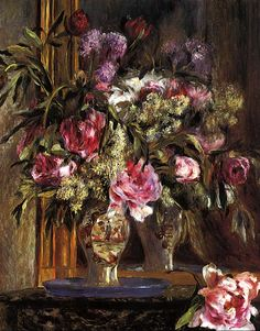 Pierre-Auguste Renoir Vase of Flowers