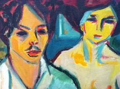 Ernst Ludwig Kirchner - Self Portrait with Model,1905.