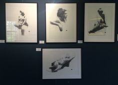 Nicholas McNally's wonderful charcoal figures, Contact gallery for info