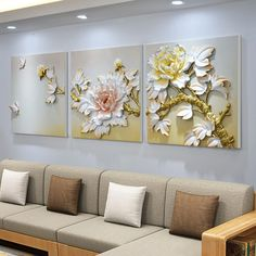 Living Room Sofa Design, Living Room Paint, Living Room Designs, Living Room Decor, Living Rooms, Mural Wall Art, Wall Art Decor, Bedroom Wall, Bedroom Decor