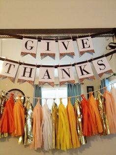 Give Thanks Tassel Garland