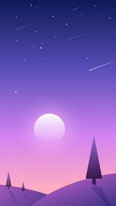 Sunset-Scenery-Sky-Shooting-Stars-iPhone-Wallpaper