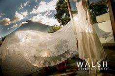 Wedding dress, wedding dress and volcano, vestido de boda http://www.photowalsh.com