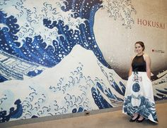 Inspired by the MFA Exhibit, a Local High Schooler Painted Her Prom Dress with Works by Hokusai