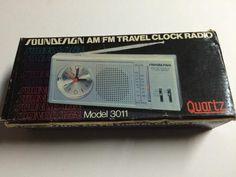 Soundesign AM/FM Portable Clock Radio 3011 in box