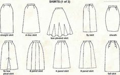 Different Skirt Styles Chart | eBay