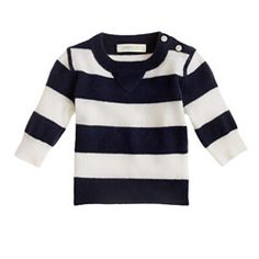 Collection cashmere baby sweater in stripe, pinned by www.katherinechambers.com