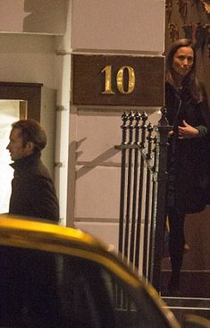 Pippa Middleton's new beau, James Matthews, was seen leaving Rasoi in London's Chelsea on Thursday as Miss Middleton looks on. The could are thought to have moved in together after two months of dating