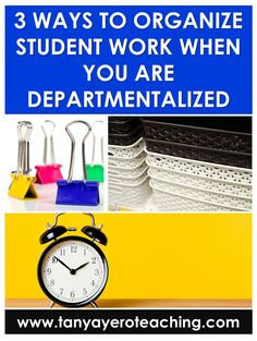 I have been a departmentalized teacher for 5 years. It's fabulous. I teach math and science. I am truly teaching to my strengths, but when I first started departmentalizing I struggled with organization. Read about classroom organization and how to keep the piles of papers from becoming too overwhelming. Elementary Science Classroom, Teaching Kindergarten, Teaching Ideas, Classroom Organisation, Classroom Supplies, Organization Ideas, Classroom Management Strategies, School Resources, Teacher Hacks