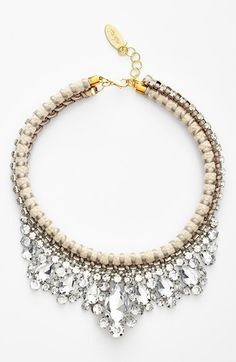 Adia Kibur 'Ladylike' Rope & Crystal Collar Necklace available at #Nordstrom