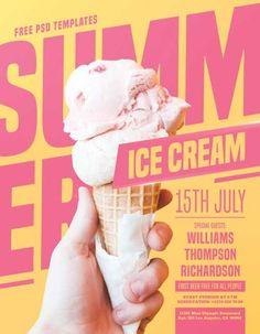 Check out the Summer Ice Cream Party Kostenlose PSD Flyer Vorlage nur auf freepsdflye Free PSD Flyer Templates Poster Design Layout, Food Poster Design, Event Poster Design, Poster Design Inspiration, Poster Designs, Event Poster Template, Graphic Design Flyer, Design Brochure, Flyer Design