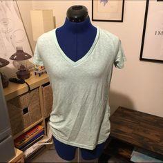 Light Green V-Neck A basic light green v-neck t-shirt for anytime! Tops Tees - Short Sleeve