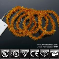 Newly patented LED tinsel string light, made from high-quality flexible copper wire and tinsel, different colors for choice.