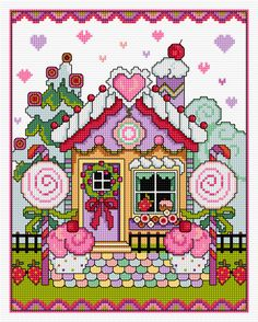 Beginning Cross Stitch Embroidery Tips - Embroidery Patterns Cross Stitch House, Xmas Cross Stitch, Cross Stitch Kitchen, Cross Stitch Baby, Cross Stitch Samplers, Cross Stitch Kits, Cross Stitch Charts, Cross Stitch Designs, Cross Stitching
