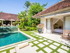 Villa Senang | 4 bedrooms | Seminyak, Bali #bali #villa #swimmingpool #garden #bedroom