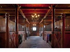 Stable with chandeliers? Yes please....yeah okay....imagine that
