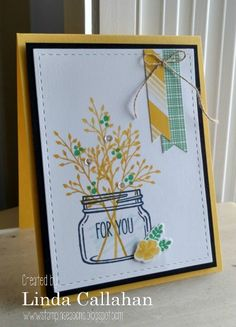 The plan was simple: make a card - have lunch - go to work at the library. Just as I started stamping lemons and limes the dishwas...