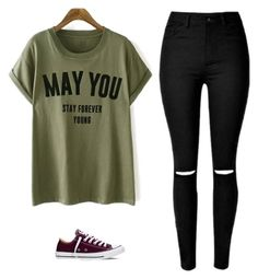"""Untitled #553"" by danieledepaula ❤ liked on Polyvore featuring Converse"