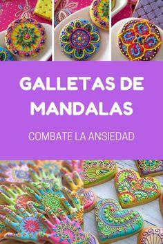 Galletas de Mandalas Fancy Cookies, Sugar Cookies, Indian Wedding Favors, Spa Party, Kitchenaid, Clay Pots, Royal Icing, Cookie Bars, Truffles