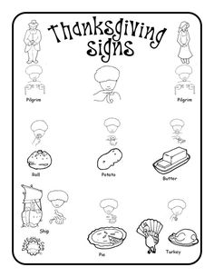 ASL Thanksgiving poster