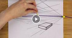 In questo video viene svelato il modo più semplice,e anche quello più geniale, per disegnare in prospettiva: fissate l'estremità di un filo elastico in corrispondenza del punto di fuga e l'altra sul
