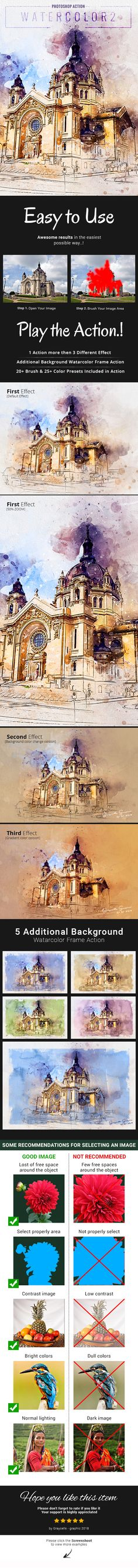 Watercolor 2 Artist Photoshop Action - Photo Effects Actions