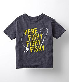 Look what I found on #zulily! Heather Blue 'Here Fishy Fishy Fishy' Tee - Toddler & Kids #zulilyfinds