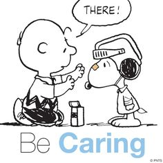 Snoopy charlie brown be caring