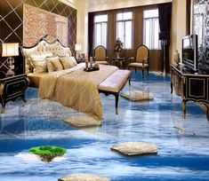 Wallpaper Removal – A Quick and Easy How-To Floor Murals, Floor Art, Floor Rugs, Floor Wallpaper, Custom Wallpaper, Wallpaper Murals, 3d Flooring, Floors, Photo Wall Stickers
