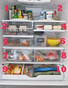 organize the refrigerator -I need a lazy Susan on my top shelf!!!