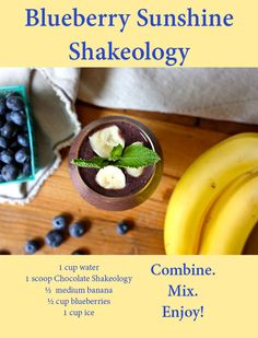 Brighten up your day with this nutritious blueberry and banana smoothie! This delicious recipe only has 5 ingredients and takes less than 5 minutes to make. #ThirstyThursday #shakeology #recipes #blueberries #bananas #beachbody #beachbodyblog #thirstythursday