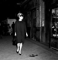Audrey Hepburn shopping in Madrid, Spain on March 25, 1964.