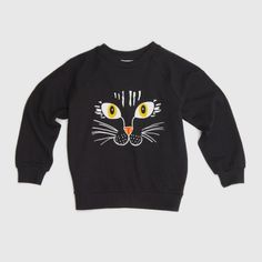 Cat Face SP Sweatshirt Zwart