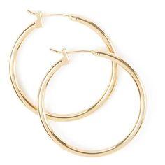 30MM Gold Hoop Earrings (865 UAH) ❤ liked on Polyvore featuring jewelry, earrings, gold, hoops, gold jewelry, gold jewellery, yellow gold jewelry, polish jewelry and gold hoop earrings