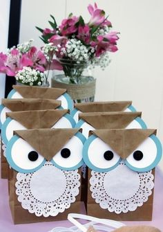 Owls made from paper bags :)