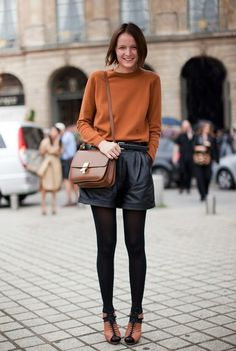 black + brown / shorts + tights are some of my favorite combinations.