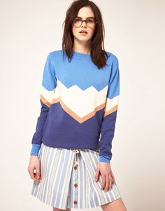 Le Mont St Michel Intarsia Cotton Sweater  $322.29  Intarsia sweater by Le Mont St Michel. Crafted in a pure cotton fine gauge knit. Featuring a crew neckline with wide fine rib edge, abstract art inspired design, fitted cuffs and hemline with a ribbed finish. Designed in a slouchy relaxed fit.