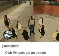 Club Penguin -Please check the website for more funny memes Dankest Memes, Funny Memes, Hilarious, Jokes, Club Penguin Funny, Funny Club, Cursed Images, Fresh Memes, Gaming Memes
