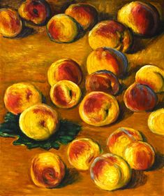 Claude Monet Peaches, 1883, oil on canvas, private collection.