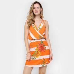 Compre Vestido Sommer Listrado Flores Laranja e Branco na Zattini a nova loja de moda online da Netshoes. Encontre Sapatos, Sandálias, Bolsas e Acessórios. Clique e Confira!