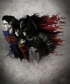 Dawn of Justice by Danial Shahzad Khan (via TumbleOn) Superman And Lois Lane, Batman Vs Superman, Batman Art, Superman Stuff, Comic Movies, Comic Books Art, Book Art, Batman Tattoo, Movies