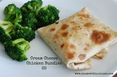 Cream Cheese Chicken Bundles {S} (low carb, low sugar). could sub chicken with cooked ground turkey, canned turkey, ground beef, even taco flavored meat.