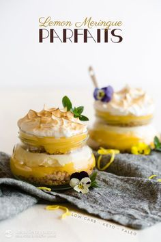 Low-Carb Lemon Meringue Parfaits (sugar-free, grain-free, keto, primal and paleo)