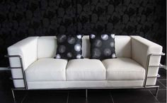 4194 MODERN WHITE LEATHER SOFA WITH CHROME | If you are look… | Flickr