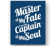 Master of My Fate Captain of My Soul Invictus door ArtsyPrintable Invictus Poem, Chalkboard, Poems, Quotes, God, Projects, Frases, Quotations, Dios