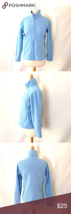 Patagonia Synchilla Light Blue Full Zip Sweater Pretty much everything Patagonia makes is awesome and this one is no exception! Good shape, minimal usage. Size small. Patagonia Sweaters Cowl & Turtlenecks