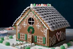 How to Make a Gingerbread House - NYT Cooking Gingerbread House Designs, Christmas Gingerbread House, Christmas Cookies, Christmas Crafts, Xmas, Gingerbread Houses, Christmas Recipes, Cardboard Gingerbread House, Christmas Ideas